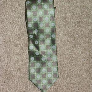 Ermenegildo Zegna Geometric Foulard Silk Tie